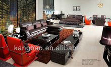 Hot Selling French Style Brown real Leather fashion Corner Sofa