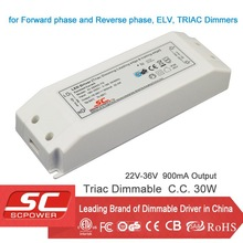 KI-36900-TD triac dimmable constant current 18-36V 900mA led driver (ac power supply)