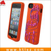 Customized silicone cell phone cover with customer design and logo