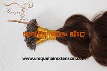 100% Human Virgin Remy U tip keratin pre bonded hair extension