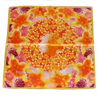 Wholesale 100% Luxurious Flower Silk Satin Scarf HS177