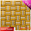 Silver Gold Bars Mosaic Metal Tile HG-Z013