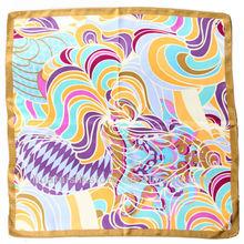 Luxury Geometry 100% Pure Silk muslim scarf hijab