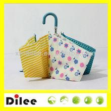 nice curve handle colorful fabric design elegant three umbrella
