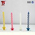 10 espiral vela de aniversário de cores sortidas