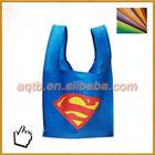 blue color nonwoven t-shirt shopping bag