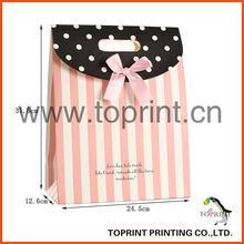 Diecut Hole Gift Hand Bags (pink stripe verson)
