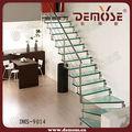 خفف من الزجاجالفولاذ المقاوم مساحة صغيرة تصميم الدرج
