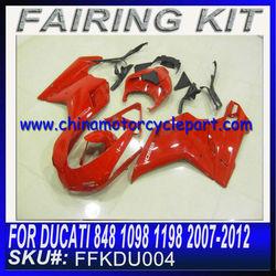 For DUCATI 848 1098 1198 2007-2012 kits de cuerpo de la motocicleta RED OEM 6 FFKDU004
