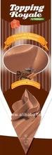 Topping Royale pronto chicoteado Mousse de Chocolate em um saco de confeitar 2 litros