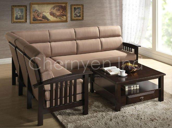 Sg connel de madera sof seccional for Modelos de muebles de madera