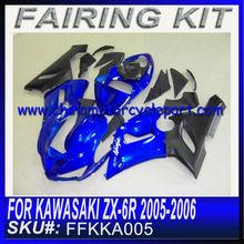 For KAWASAKI ZX 6R 2005 2006 carenado BLUE&BLACK FFKKA005