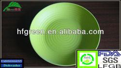 wholesale cheap sbamboo fiber salad plate