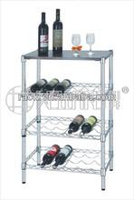 Adjustable Chrome Metal Wire Wine Rack Holder Manufacturer