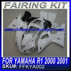 For YAMAHA R1 2000 2001 carenados de la motocicleta WHITE&NO DECALS FFKYA002