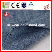 wholesale antibacterial 100% linen grey stripe fabric