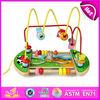 2015 New wooden bead children maze toy ,wooden educational toys,Mini wire children maze toy, wooden child toys W11B012
