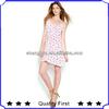 Factory supplier women dress casual ladies fashion chiffon printed dresses spaghetti straps printed clothes