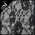 bastante negro elástico cosecha de tela de encaje venta al por mayor para las mujeres dlr0623