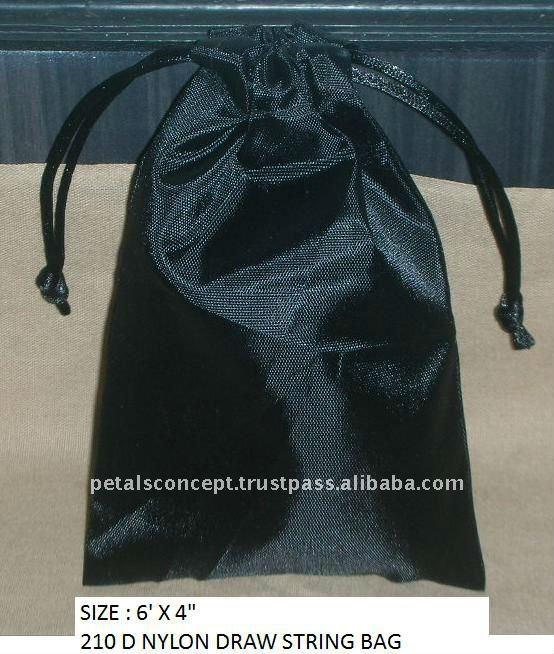 tafetá com cordão saco de jóias