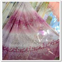 2013Newest Fancy Chiffon Gauze Covering Window Curtain Printed Window Curtain Net Curtains