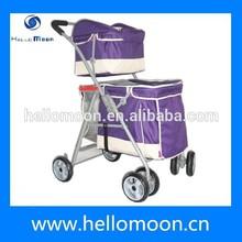 2015 Popular Four Wheels Comfortable Dog Double Stroller