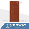 modern design white flush carved PVC MDF door