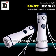 Best Hot Sale Lighting Direct / White LED Flashlight Built in FM Radio Flashlight (SL-3228F)