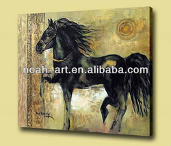 Decoration animal oil painting with stretched for hanging