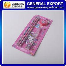 plastic pensil girl stationery set