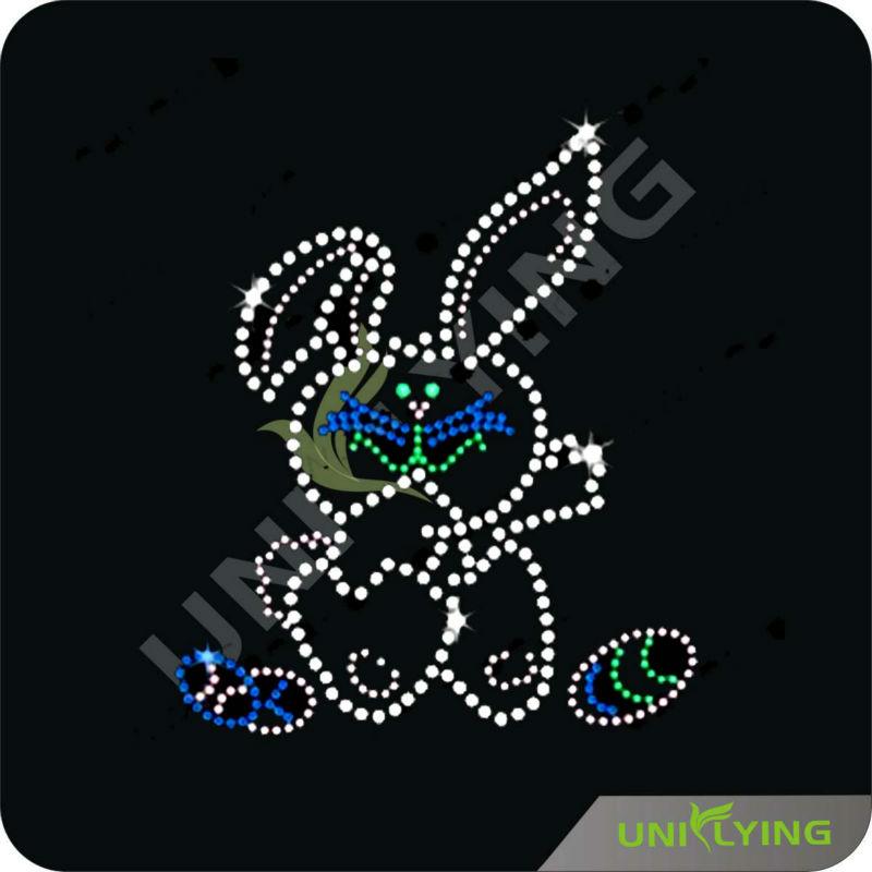 Rhinestone Easter Easter Bunny Rhinestone Nail