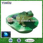 YINRU-floating garden solar frog lamp,frog water feature,water saving frog