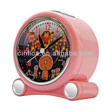 plastic flip alarm clock CK-513