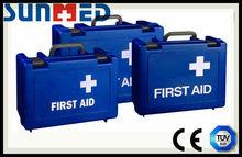 Blue Standard empty first aid kit box