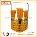 china fabricante 24 pcs venta al por mayor de color de plástico cubiertos conjunto