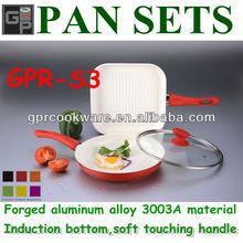 aluminum cookware set with ceramic coating