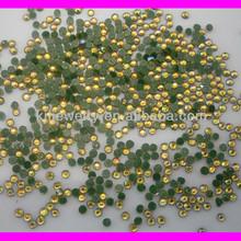 GZKJL-CT0225 Wholesale SS6 hotfix iron gold yellow AB glass High quality 2mm Flat Back Rhinestone 10gross