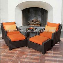 Popular comfortable cheers furniture rattan recliner sofa