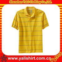 Colorful custom high quality mens polo collar striped t shirt