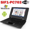 SIF1-PC703 Cheap Mini Laptop 7 TFT Android 2.2 Window system CE6.0 WiFi