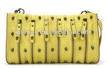 2013 new product yellow fancy skull leather shoulder clutch bag woman/designer handbag for girls wholesale Guangzhou SKW13635#-2