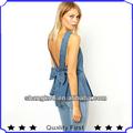 2013 designer de moda estilo mulheres tops e blusas 100% algodão volta arco denim superior e blusa shk 2023m