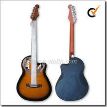 """39"""" occidental de colores de plástico alrededor de la espalda guitarra corte( afo931c)"""
