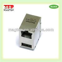 RJ45 Female PCB Cat 5 & 6 Mini USB 10 Pin Connector