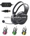 de alta calidad usb auricular con micrófono y control de volumen