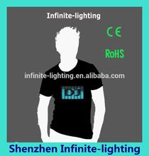 EL product led sound activated t-shirts factory el wire clothes/EL tshirt/led tshirt