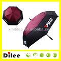la lluvia sol negro de encargo y de color rosa de doble capa auto abierto paraguas mini golf