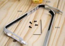 Detachable ultrathin aluminum frame bumper case for Iphone 4 4s,protective metal bumper case,five color for choice
