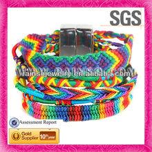 Top Selling Handmade Bracelet Rainbow Woven Hippie Bracelet Wholesale