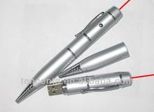 2014 hot item! Laser USB pen/USB laser pointer pen/4--32GB USB ball pen